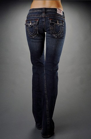 True Religion Womens Joey with Studs - Drifter Dark Jeans